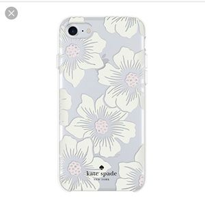 Kate Spade White Floral Hollyhock iPhone 7/8 Case